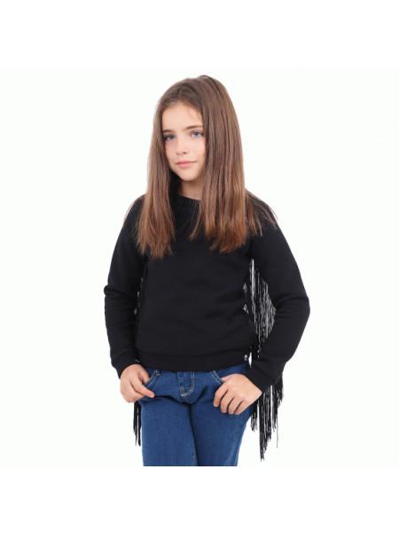 Світшот на дівчинку з бахромою