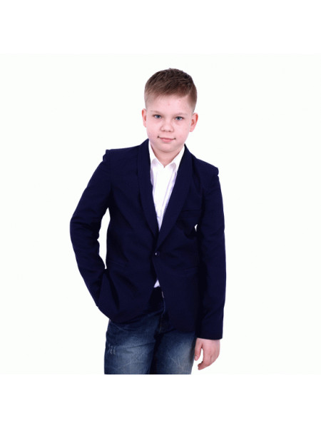 Школьный стильный пиджак для мальчика