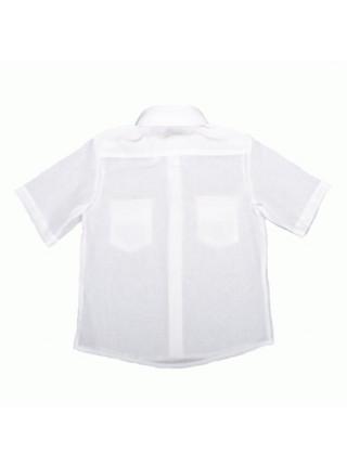 Шкільна рубашка для хлопчика з коротким рукавом