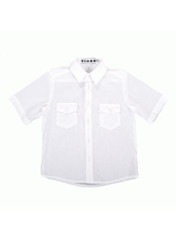 Школьная рубашка для мальчика с коротким рукавом