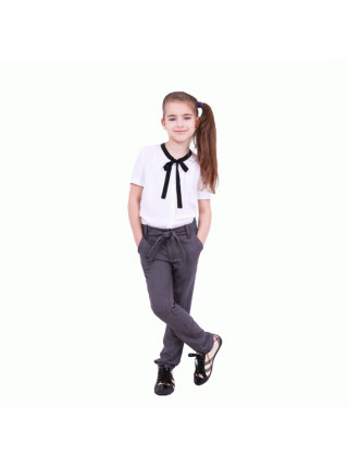 Школьная блузка с коротким рукавом