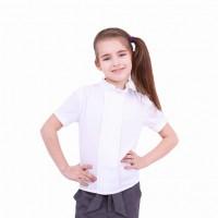 Детская блузка с воротником стойкой