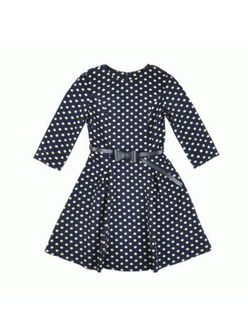 Вельветове шкільне плаття з розкльошеною юбкою