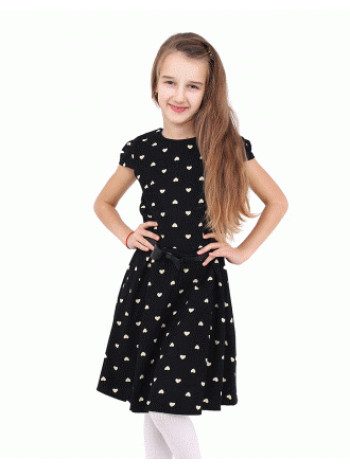 Школьное платье с коротким рукавом