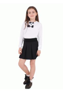 Блузка для девочки белая с бантиками