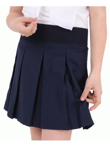 Школьная юбка на широкой резинке