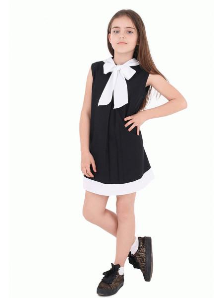 Школьный сарафан для девочки с бантиком