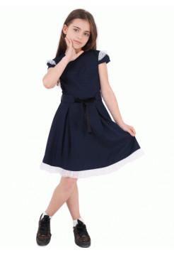 Модное школьное платье с коротким рукавом