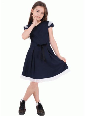 Недорогое платье для школы с коротким рукавом