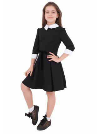 Шкільне плаття з білим комірцем і манжетами