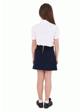 Школьная блузка с коротким рукавом фонарик
