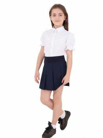 Шкільна блузка з коротким рукавом ліхтарик