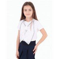 Блузка біла шкільна з бантиком