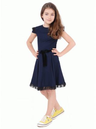 Недороге шкільне плаття з коротким рукавом