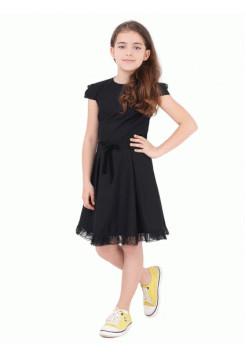 Красивое школьное платье с рукавом фонарик
