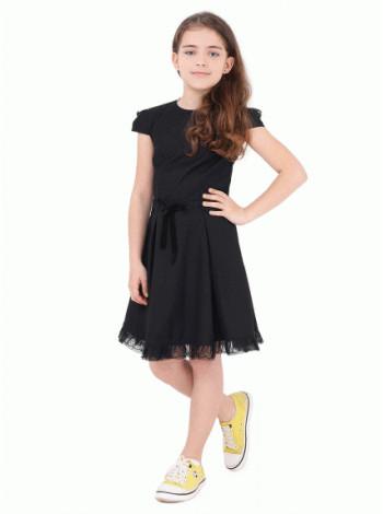 Недорогое школьное платье с коротким рукавом
