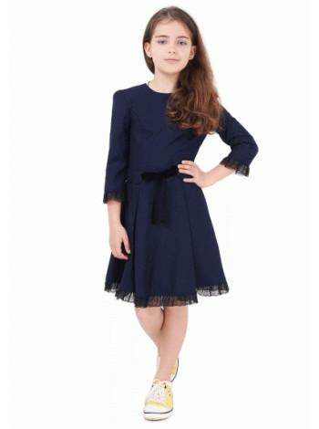 Модне шкільне плаття з мереживом