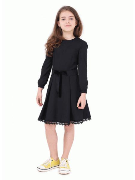Плаття шкільне з довгим рукавом