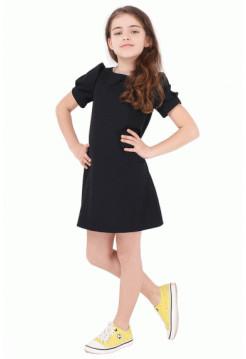 Недорогое школьное платье для девочки с коротким рукавом