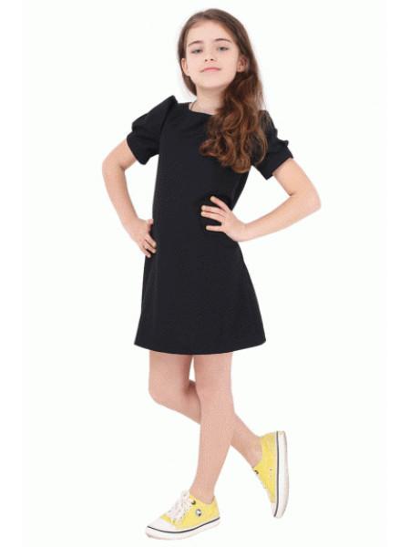 Недороге шкільне плаття для дівчинки з коротким рукавом