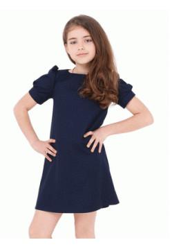Школьное платье для девочки с рукавом фонарик