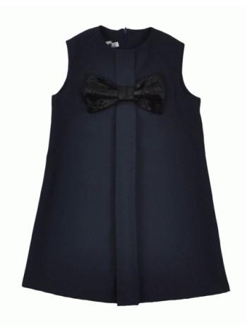 Расклешенный школьный сарафан черный и синий
