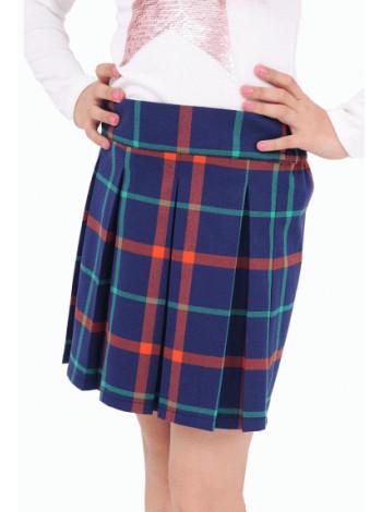 Школьная юбка в складку в клетку