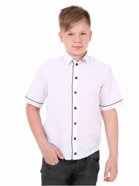 Шкільна рубашка з коротким рукавом
