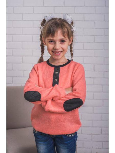 Красивая кофта из ангоры для девочки