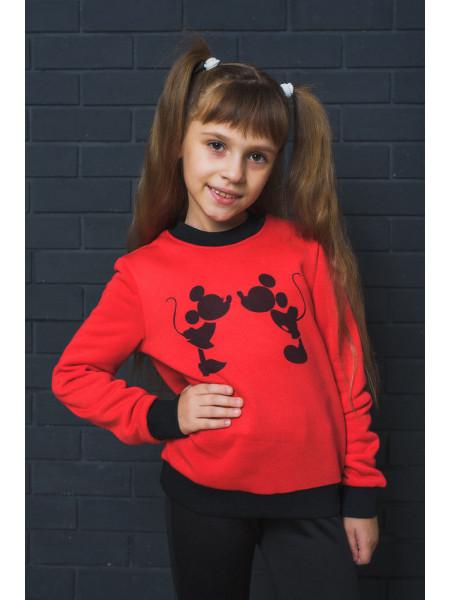 Детский свитшот с принтом Микки Маус
