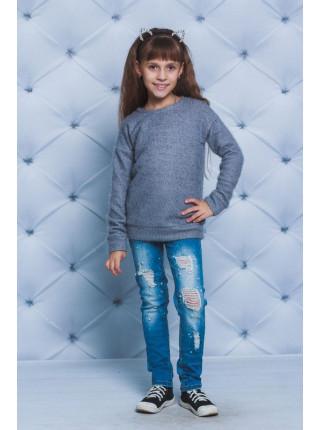 Модная кофточка детская травка