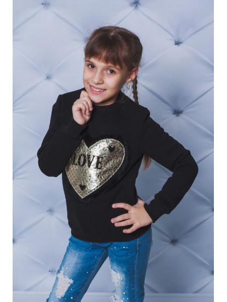 Кофта тепла для дівчинки з принтом