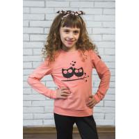 Трикотажный детский свитшот с принтом