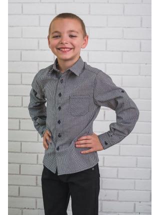 Стильная рубашка в клетку для мальчика