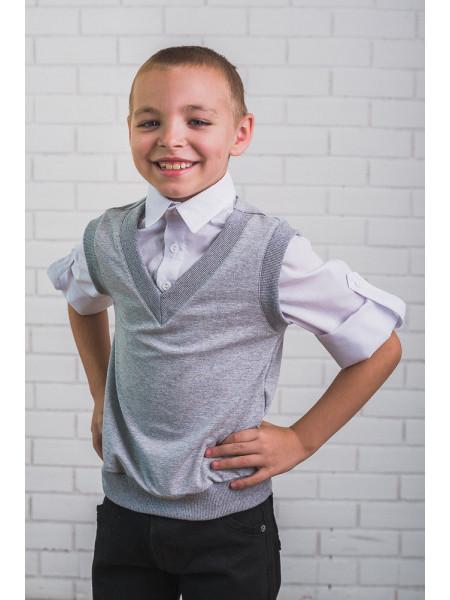 Рубашка с жилеткой обманкой для мальчика