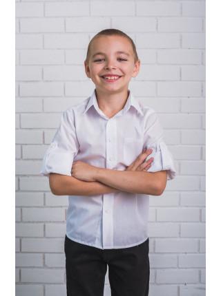 Классическая рубашка белого цвета
