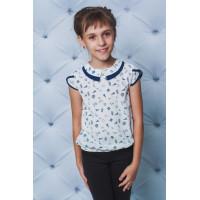 Детская красивая блуза в принт для девочки