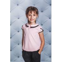 Стильна шкільна блузка із коротким рукавом