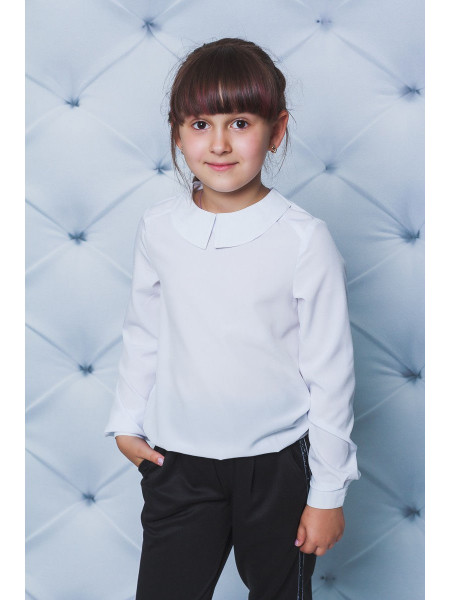 Детская блузка белая для школы