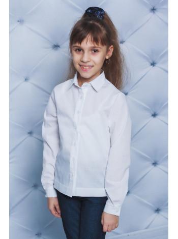 Класична блузка біла для дівчинки