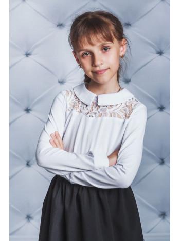 Красива блуза біла шкільна із гіпюром