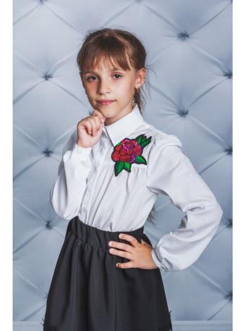 Школьная блузка с розой для девочки