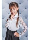 Дитячий святкова блузка в школу