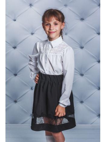 Шкільна блуза біла із перфорацією