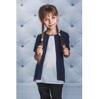 Оригинальная блузка с небольшим рукавом для школы