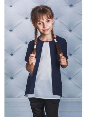 Оригінальна блузка із невеликим рукавом для школи
