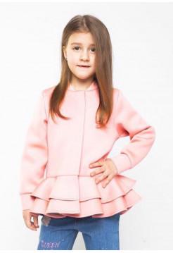 Детская куртка с воланами для девочек