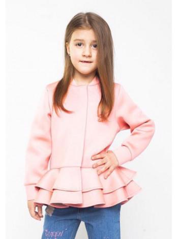 Дитяча куртка з воланами для дівчаток