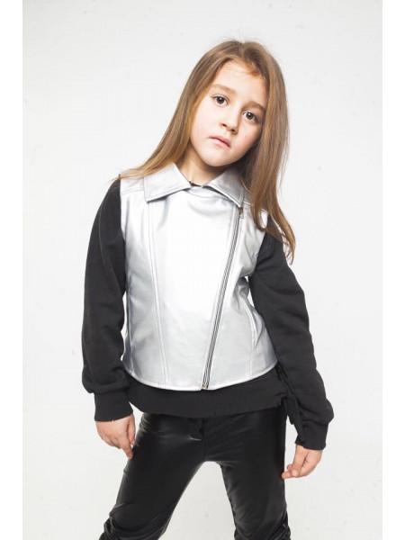 Кожаная жилетка косуха для девочки