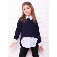 Модная детская кофта рубашка для девочки